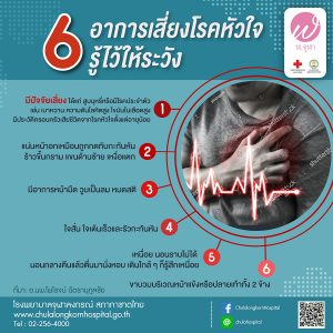 6 อาการเสียงโรคหัวใจ รู้ไว้ให้ระวัง